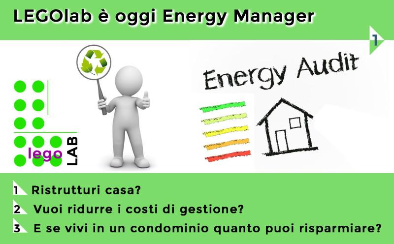 legoLAB oggi è anche Energy Manager: scopri i nuovi servizi e gli incentivi